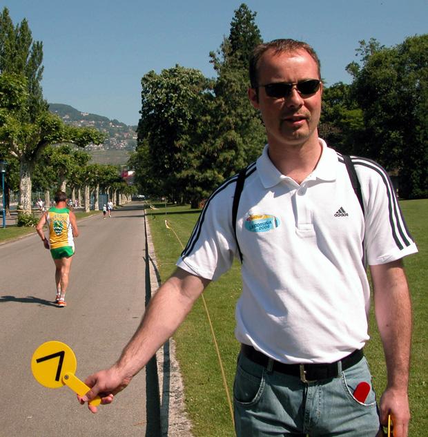Le juge Frédéric Bianchi en 2006 à La Tour-de-Peilz [Jérôme Genet / FSM / Swisswalking.org]