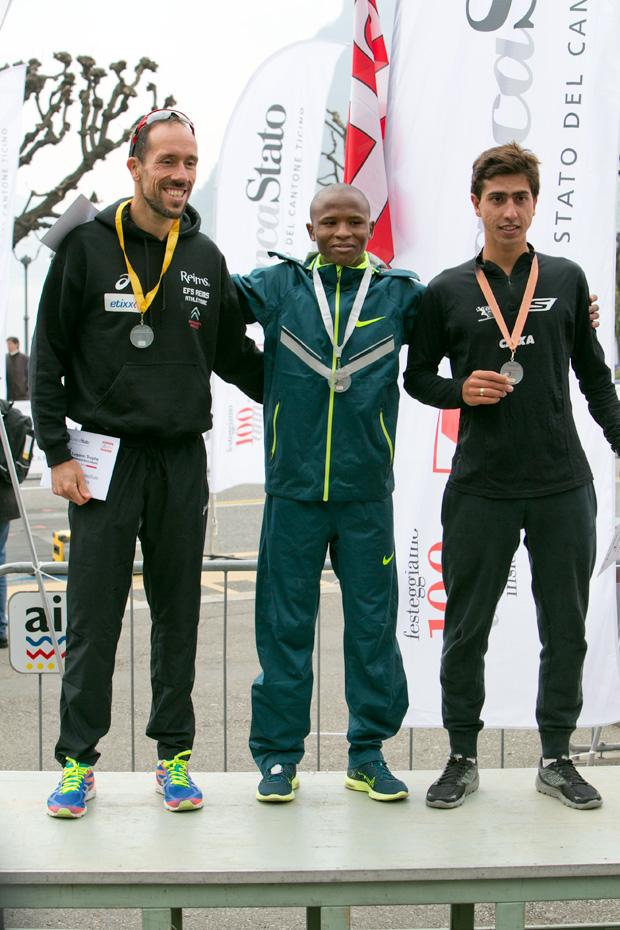 Podium hommes du Lugano Trophy 2015 [Jérôme Genet / FSM / Swisswalking.org]