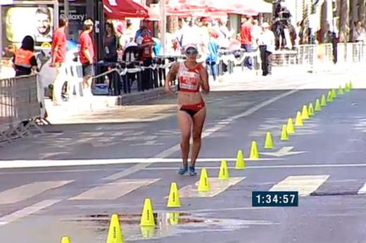 Laura Polli (SUI) à Murcia le 17 mai 2015 [live TV rfea.es]