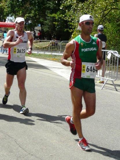 Le Portugais de Lausanne Luis Correia, sur le 20km à Lyon le 14 août 2015 [E. Tardi].