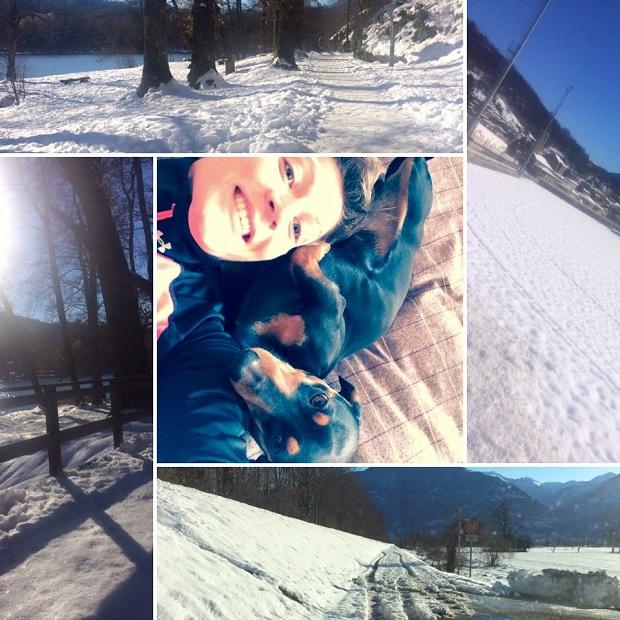 La neige au Tessin en mars 2016 et Laura Polli!
