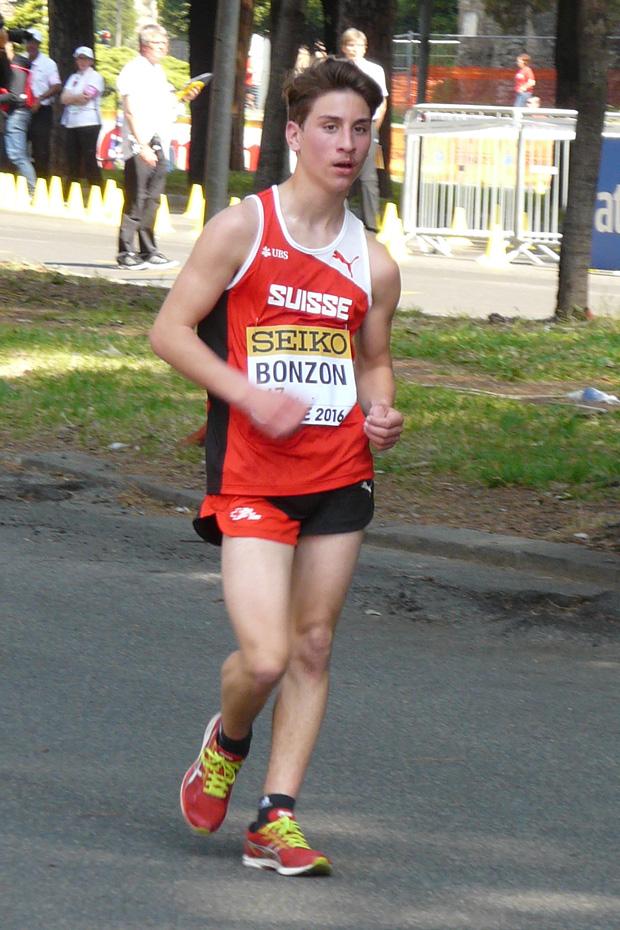 Nathan Bonzon était déjà en équipe suisse à Rome le 7 mai 2016 [E. Tardi]
