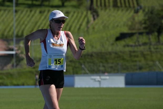 Corinne Henchoz, ici comme athlète à Chailly en juillet 2016 [J. Genet]