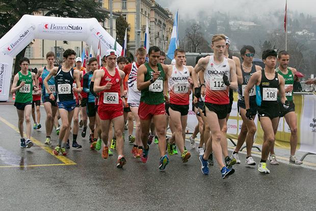 Le départ du 20km messieurs du Lugano Trophy 2018 (c) Jérôme Genet