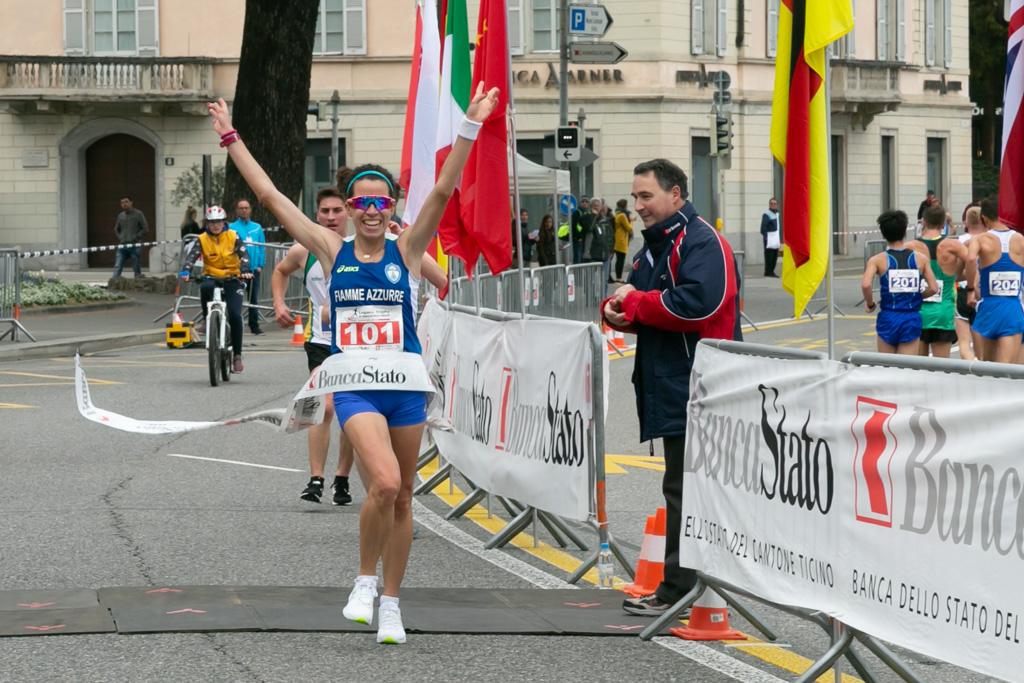 Eleonora Giorgi (ITA) remporte le Lugano Trophy le 17 mars 2019 [© Jérôme Genet / Swiss Walking]